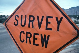 construction sign that says survey crew