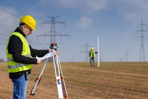 land surveyor in Odessa surveying land