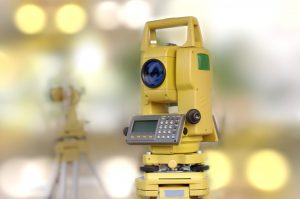 land survey tool and total station
