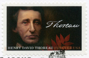 A stamp with Henry David Thoreau